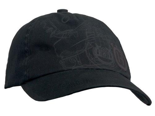 Husqvarna Xplorer Melna cepure ar zāģa apdruku