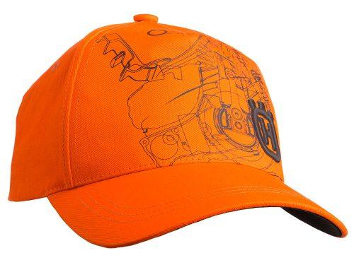 Husqvarna Xplorer cepure ar nagu, oranža
